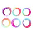 abstract circles frames set design vector image vector image