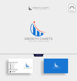 accounting finance creative logo template isolated vector image vector image