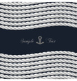 Background with nautical rope vector image vector image