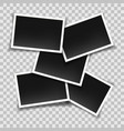 blank instant photo frames collage vector image