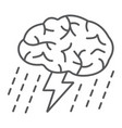 brainstorm thin line icon development vector image