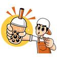 bubble tea vector image