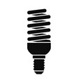bulb energy saving icon simple style vector image vector image