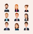 business people group avatars characters vector image