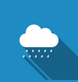 cloud with rain icon isolated with long shadow vector image