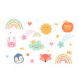 collection cute baby and kids vector image vector image