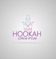Contour of hookah vector image vector image