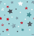 cute seamless star pattern baby boy background vector image