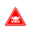 danger poison sign red attention toxic hazard vector image vector image