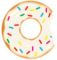 donut with a mouth bite vector image vector image