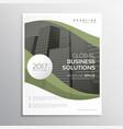 elegant business brochure flyer poster template vector image vector image