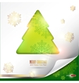 elegant winter background with christmas tree and vector image vector image