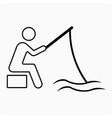 fisherman icon vector image vector image