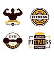fitness emblem design element gym sport club vector image vector image