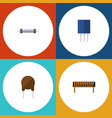 flat icon electronics set of resistor receptacle vector image vector image
