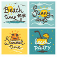 Funny summer hand drawing calligraphy vector image