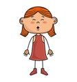 girl kid cartoon smiling vector image