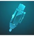 glass pen icon vector image vector image