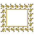 golden decorative frame vector image vector image