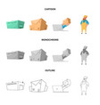 goods and cargo sign set of goods and warehouse vector image