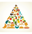 Health food pyramid vector | Price: 3 Credits (USD $3)