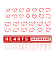 heart with arrows set on white vector image