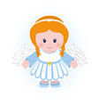 holiday of merry christmas angel vector image