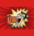 idea and man joyful businessman vector image