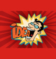 idea and man the joyful businessman vector image