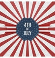 Independence Day 4th of July paper Badge vector image