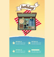 infographic travel planning a summer vacation vector image vector image