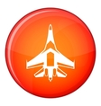 Jet fighter plane icon flat style vector image vector image