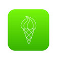 lemon ice cream icon green vector image