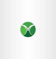 letter m green icon circle sign logo logotype vector image
