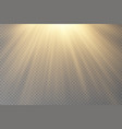 light flare special effect with rays of light vector image vector image