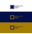 minimal square shape logo design concept vector image