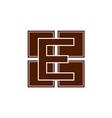 monochrome e letter logo digital e logo e letter vector image