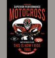 motorcross performance vector image