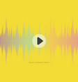 music abstract yellow background with sound wave vector image vector image