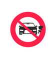 no car or vehicle engine running sign flat vector image