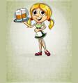 oktoberfest blonde girl vector image