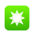 origami sun icon green vector image