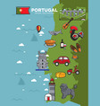 portugal travel tourism poster template of vector image vector image