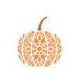 pumpkin mandala design template isolated vector image