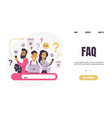 question landing page faq people ask frequent vector image