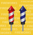 red and blue fireworks rocket elements design vector image vector image