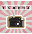 Retro camera in a scrapbook style vector image