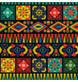 retro folk abstract patchwork seamless pattern art vector image vector image
