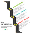 road infographic background vector image vector image