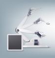 robotic arm concept vector image vector image